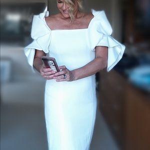 Narciso Rodriguez embellished sleeve Event dress